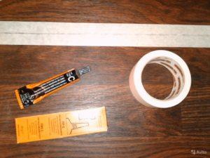Для холодной сварки используют специальный клей