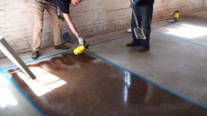 Чтобы не было пыли, бетон можно покрасить
