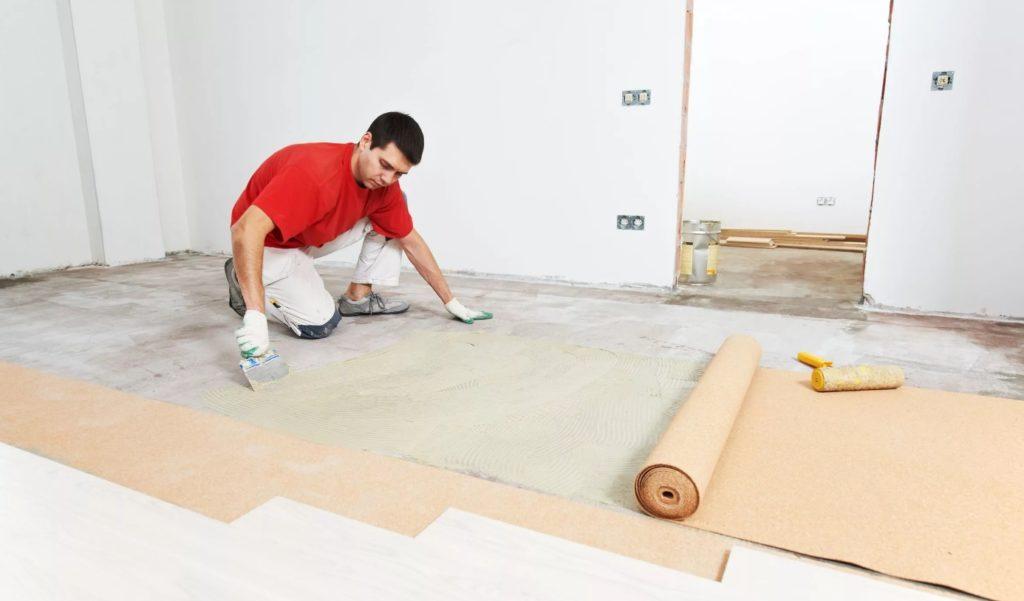 бетонный пол под ламинат