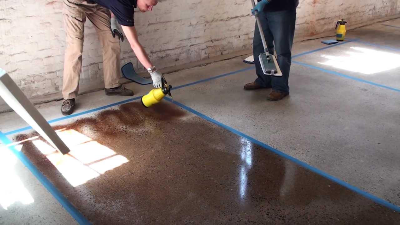 Для чего красить бетон