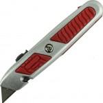 Нож 18 мм трапецивидное лезвие, обрезиненная ручка