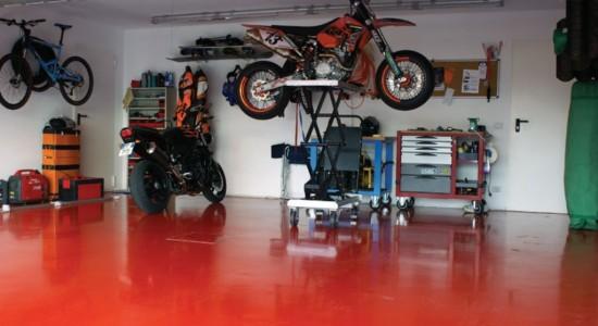 красим бетонный пол в гараже