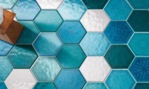 Интересна плитка в форме шестиугольника
