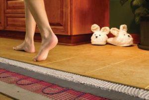 Под плиткой можно сделать теплый пол