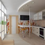 Белый ламинат на кухне