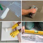 Процесс цементной стяжки