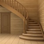 Красивая лестница с применением ламината