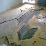 Разбор деревянного пола
